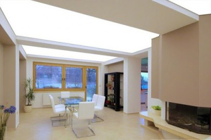 Exemplu de amenajare a interiorului cu tavan translucid Decorstyle Tavane extensibile translucide