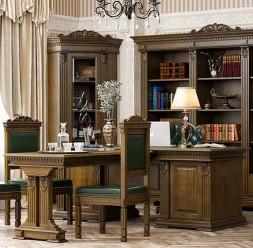 Mobilier pentru biblioteca din lemn masiv MAVIS