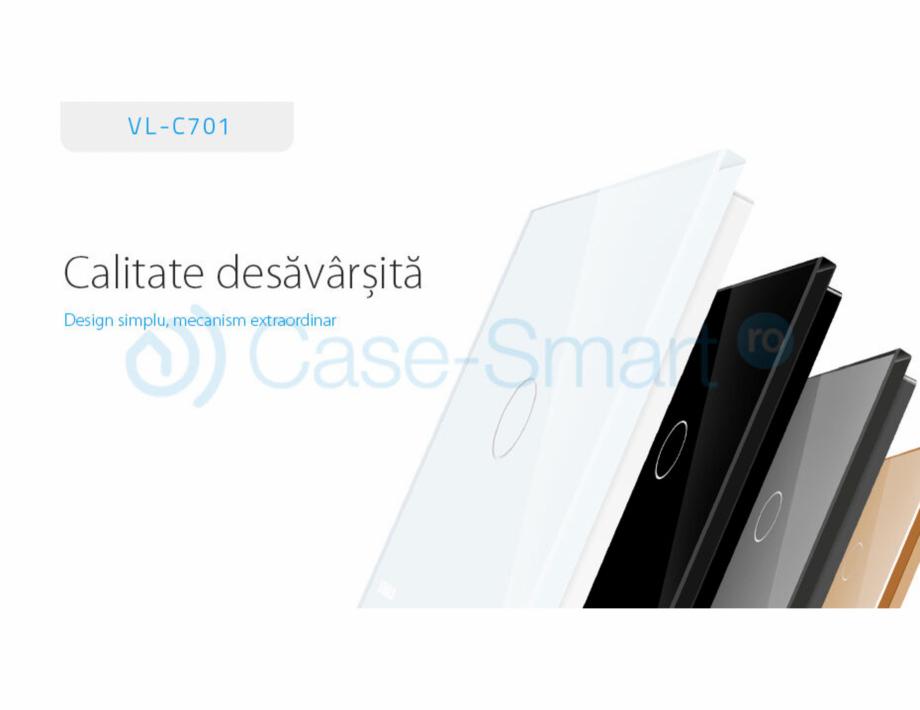 Pagina 1 - Intrerupator simplu cu touch Livolo din sticla Case Smart VL-C701 Catalog, brosura Romana...