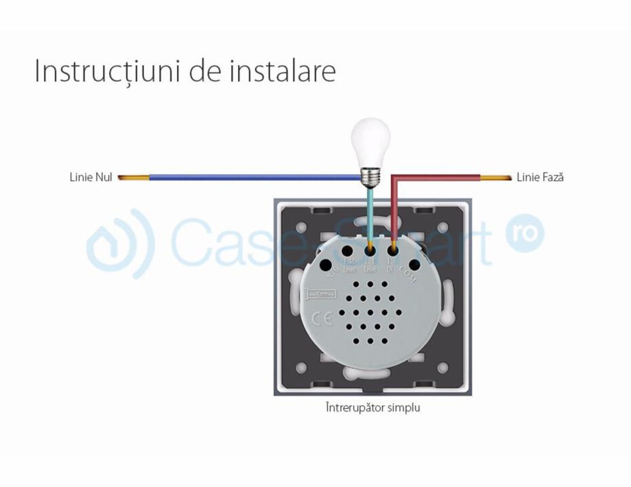 Pagina 3 - Intrerupator simplu cu touch Livolo din sticla Case Smart VL-C701 Catalog, brosura Romana...