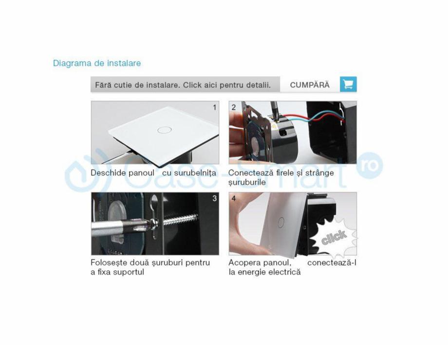 Pagina 5 - Intrerupator simplu cu touch Livolo din sticla Case Smart VL-C701 Catalog, brosura Romana...
