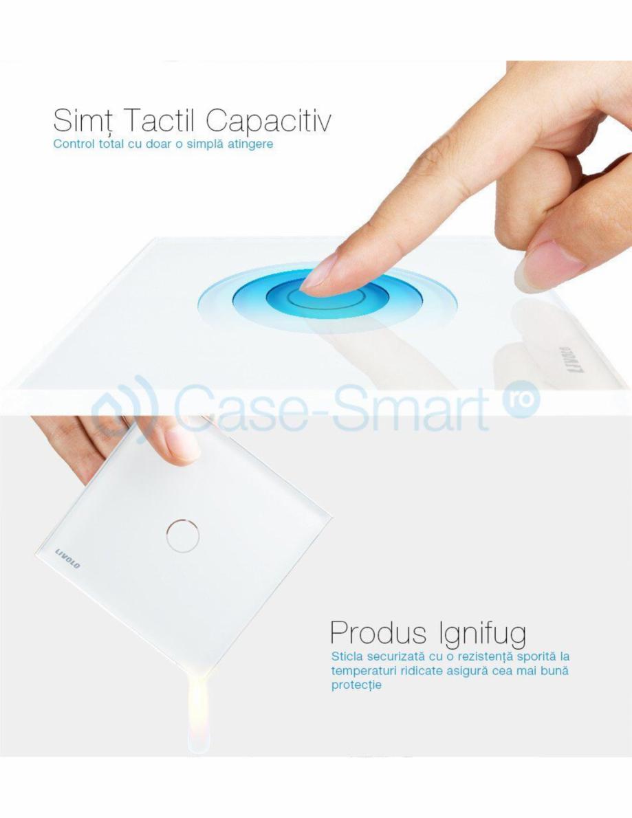 Pagina 7 - Intrerupator simplu cu touch Livolo din sticla Case Smart VL-C701 Catalog, brosura Romana...