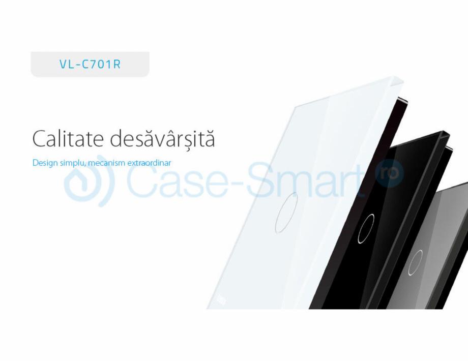 Pagina 1 - Intrerupator simplu wireless cu touch Livolo din sticla Case Smart VL-C701R Catalog,...