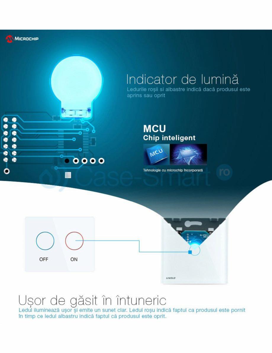 Pagina 6 - Intrerupator simplu wireless cu touch Livolo din sticla Case Smart VL-C701R Catalog,...