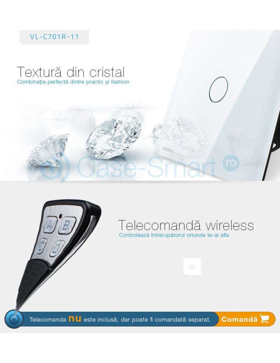 Pagina 7 - Intrerupator simplu wireless cu touch Livolo din sticla Case Smart VL-C701R Catalog,...