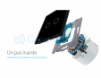 Intrerupator dublu wireless cu touch Livolo din sticla Case Smart - VL-C702R