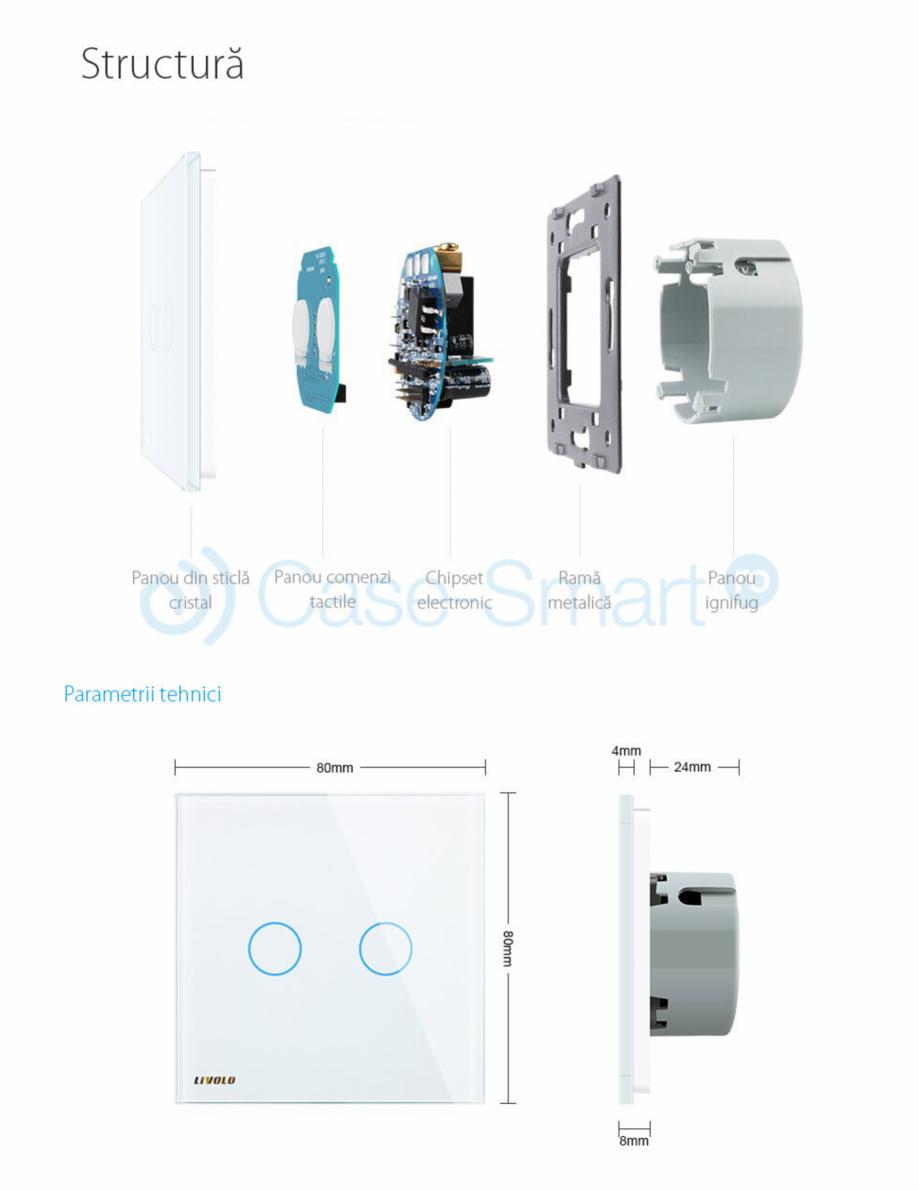 Pagina 4 - Intrerupator dublu wireless cu touch Livolo din sticla Case Smart VL-C702R Catalog,...