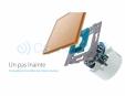 Intrerupator wireless cu variator cu touch Livolo din sticla Case Smart - VL-C701DR