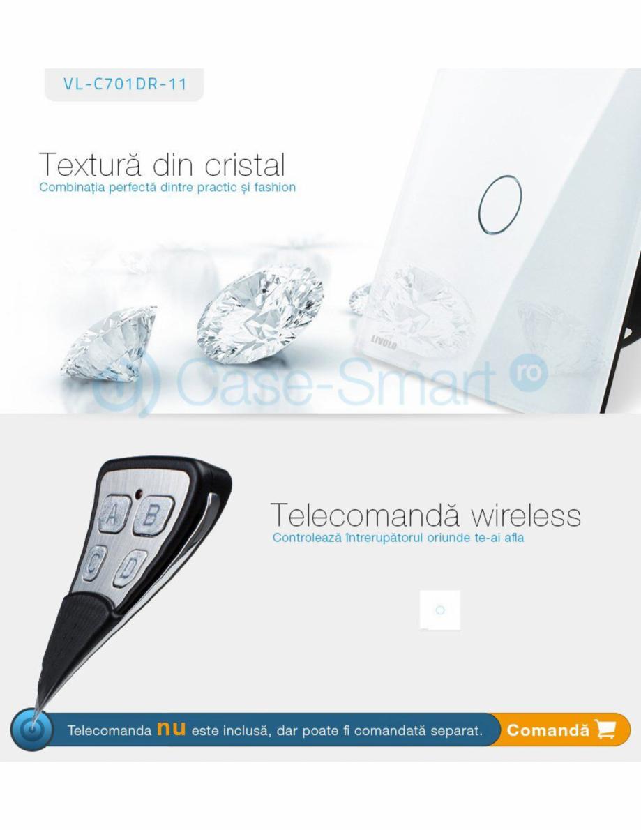 Pagina 6 - Intrerupator wireless cu variator cu touch Livolo din sticla Case Smart VL-C701DR Catalog...