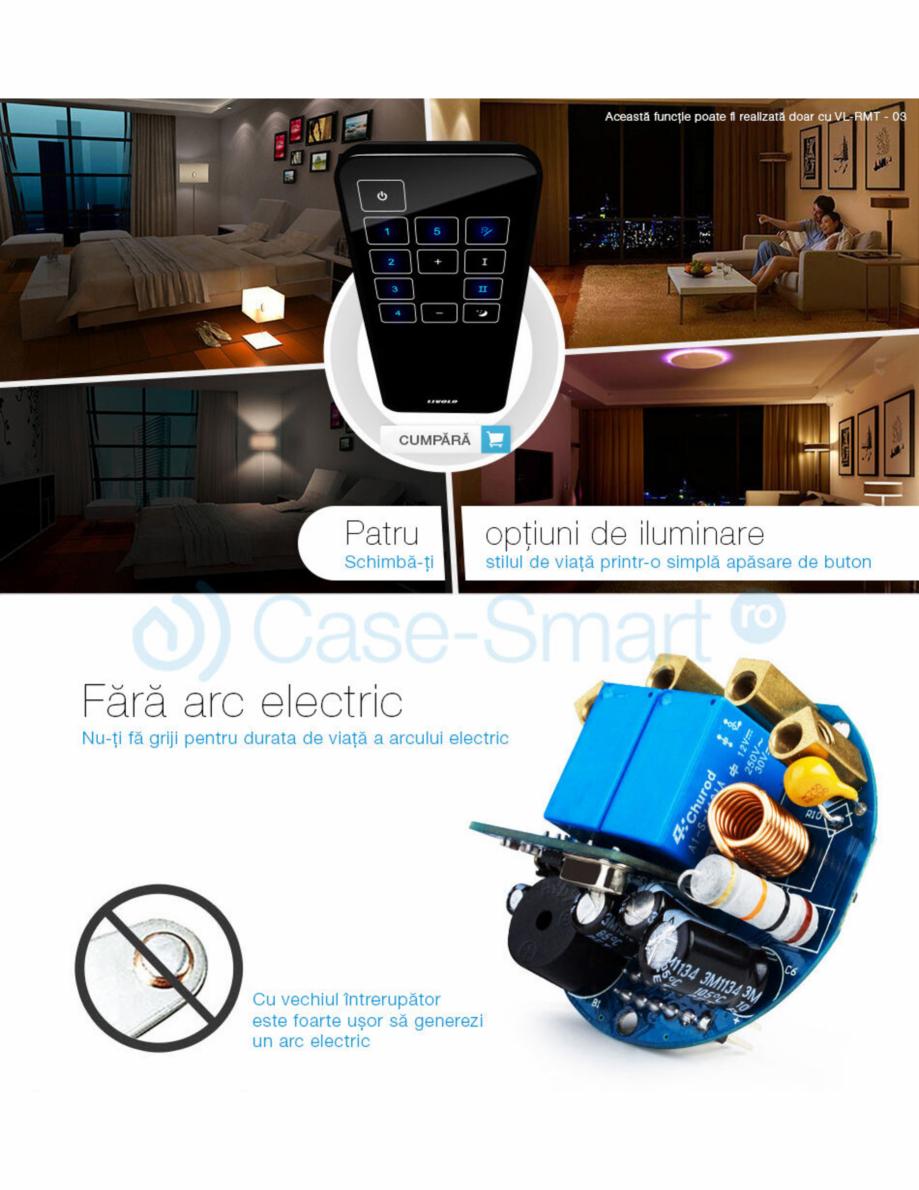 Pagina 8 - Intrerupator wireless cu variator cu touch Livolo din sticla Case Smart VL-C701DR Catalog...