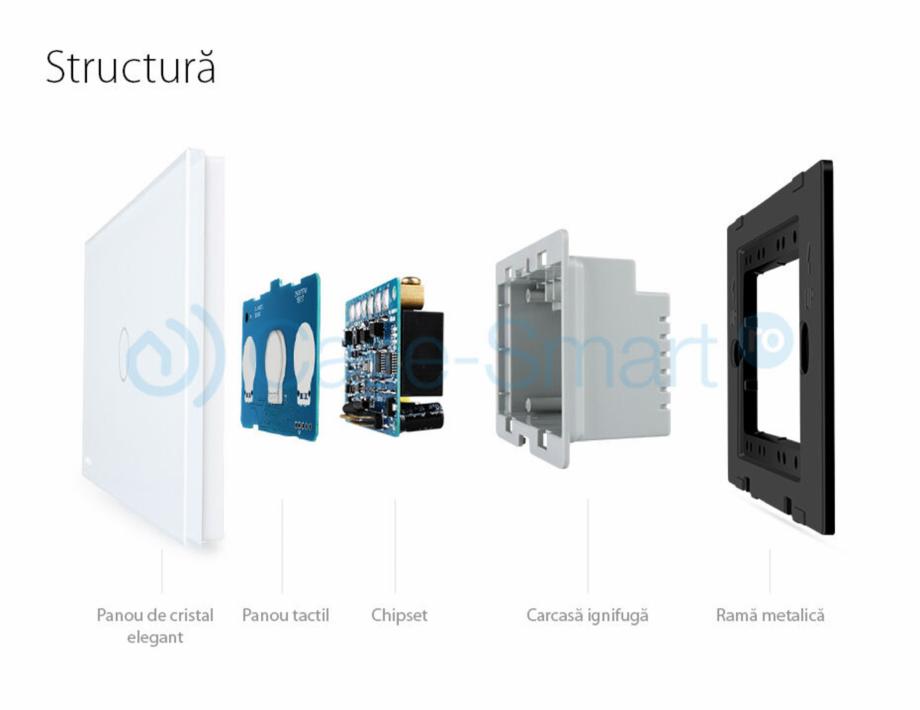 Pagina 1 - Intrerupator cu timer cu touch Case Smart VL-C301T Catalog, brosura Romana...
