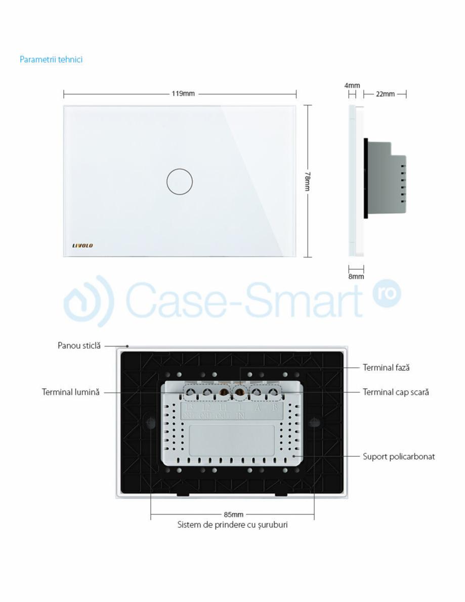Pagina 2 - Intrerupator cu timer cu touch Case Smart VL-C301T Catalog, brosura Romana