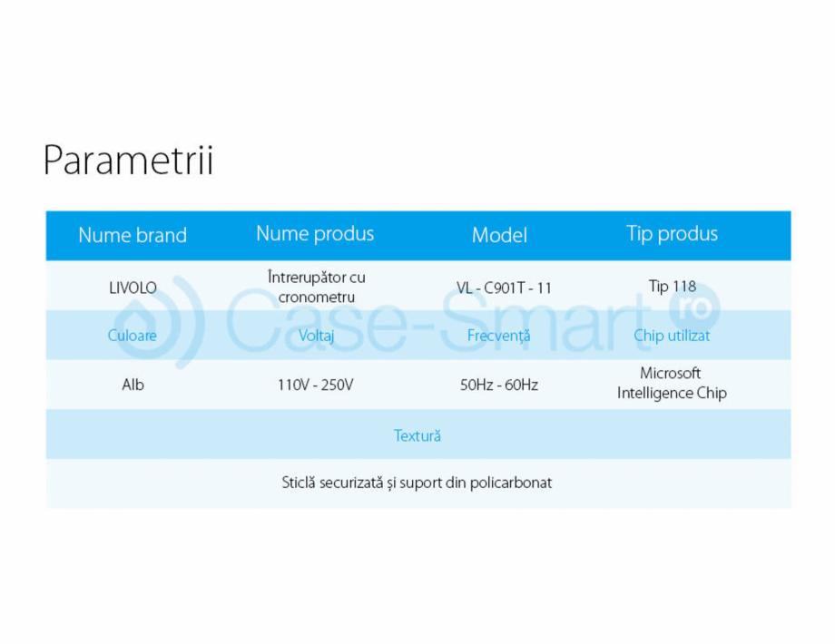Pagina 8 - Intrerupator cu timer cu touch Case Smart VL-C301T Catalog, brosura Romana
