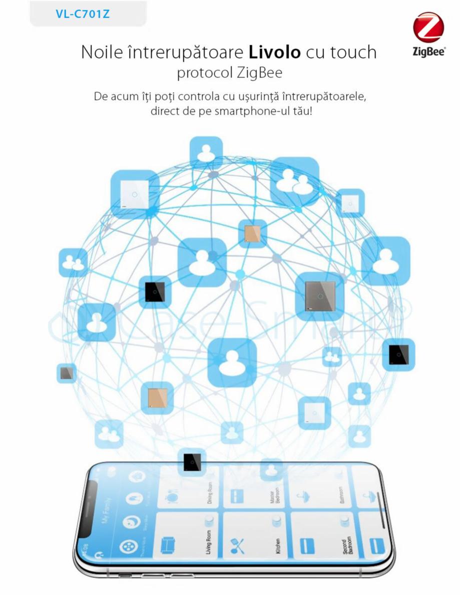 Pagina 1 - Intrerupator simplu cu touch, protocol ZigBee Case Smart VL-C701Z Catalog, brosura Romana...