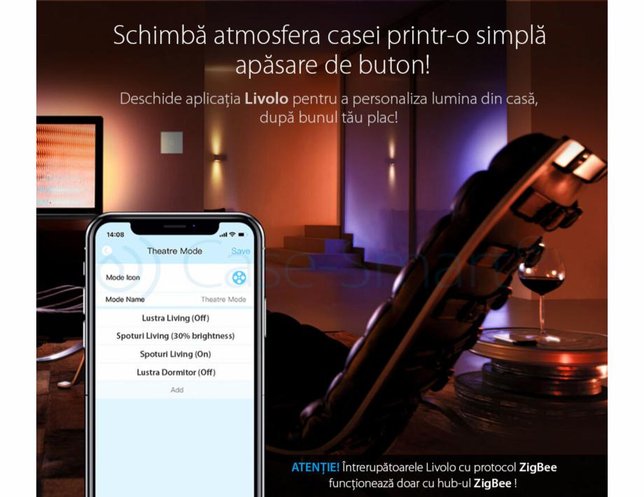 Pagina 2 - Intrerupator simplu cu touch, protocol ZigBee Case Smart VL-C701Z Catalog, brosura Romana...