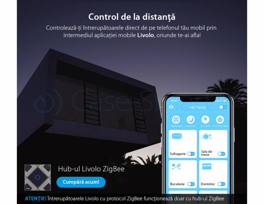 Pagina 3 - Intrerupator simplu cu touch, protocol ZigBee Case Smart VL-C701Z Catalog, brosura Romana...