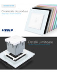 Intrerupator simplu cu touch Livolo din sticla, serie noua Case Smart - 782000101SR-11