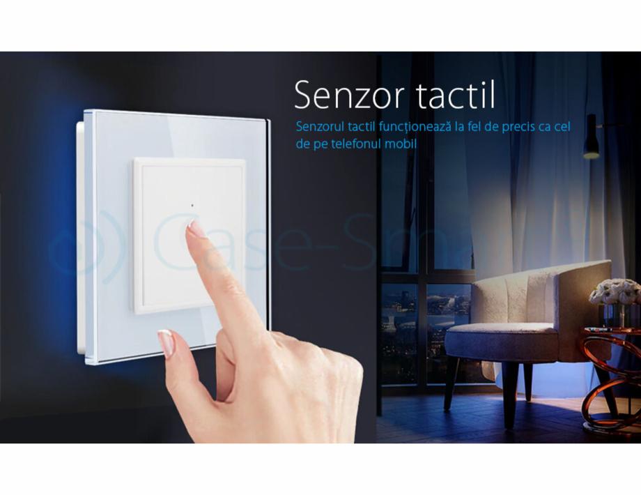 Pagina 3 - Intrerupator simplu cu touch Livolo din sticla, serie noua Case Smart 782000101SR-11...