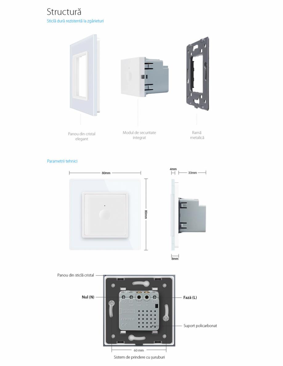 Pagina 7 - Intrerupator simplu cu touch Livolo din sticla, serie noua Case Smart 782000101SR-11...