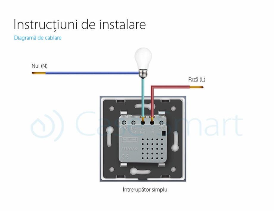Pagina 8 - Intrerupator simplu cu touch Livolo din sticla, serie noua Case Smart 782000101SR-11...