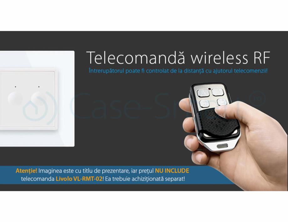 Pagina 4 - Intrerupator dublu, wireless cu touch Livolo din sticla, serie noua Case Smart...