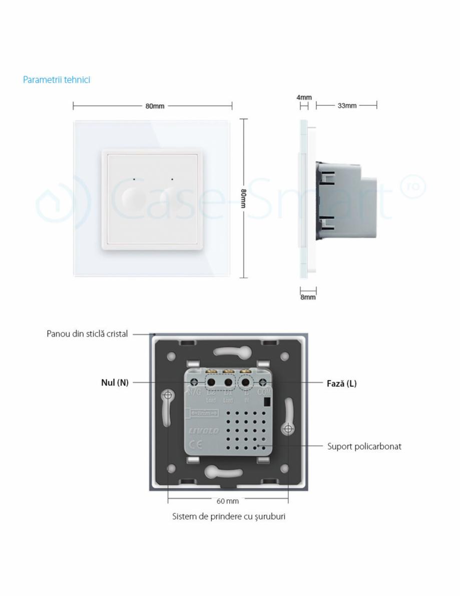 Pagina 9 - Intrerupator dublu, wireless cu touch Livolo din sticla, serie noua Case Smart...