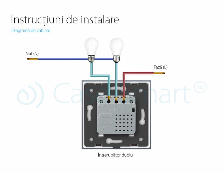 Pagina 10 - Intrerupator dublu, wireless cu touch Livolo din sticla, serie noua Case Smart...
