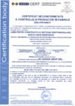 Certificat de conformitate a controlului productiei in fabrica 14081 DOXAR
