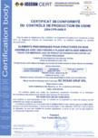Certificat de conformitate a controlului productiei in fabrica 14250 DOXAR