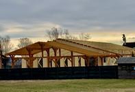 Sarpante din lemn masiv si lemn stratificat pentru rezidential si industrial