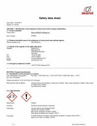 Fisa de securitate pentru SkamoWall Adhesive (Adeziv)