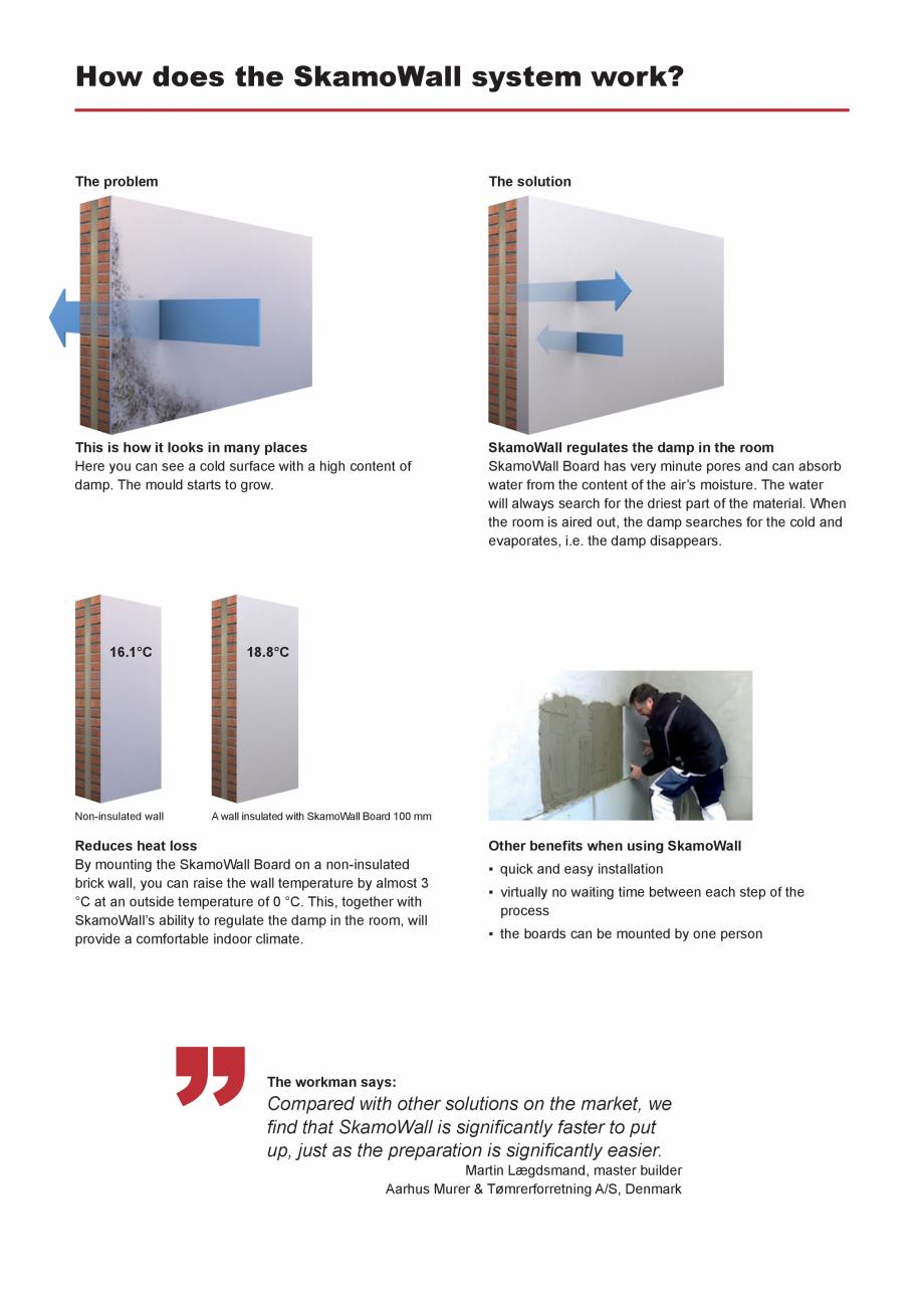 Pagina 4 - Prezentarea sistemului de izolatie pentru interior din placi de silicat de calciu SKAMOL ...