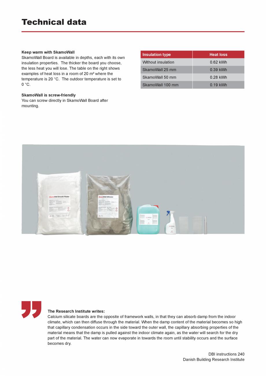 Pagina 5 - Prezentarea sistemului de izolatie pentru interior din placi de silicat de calciu SKAMOL ...
