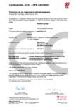 Certificat de constanta a poerformantei pentru sistemul de izolatie din placi de silicat de calciu SKAMOL