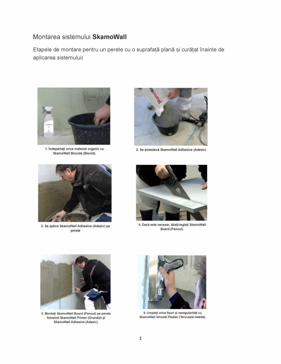 Pagina 1 - Istructiuni de montare a sistemului de izolatie cu placi minerale din silicat de calciu -...