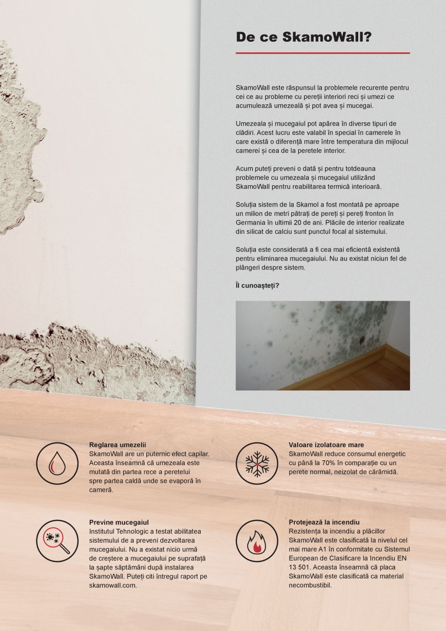 Pagina 2 - Preveniti problemele cu umezeala si mucegaiul o data pentru totdeauna SKAMOL SkamoWall...