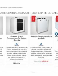 Sisteme ventilatie centralizata cu recuperare de caldura