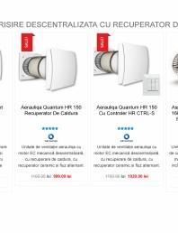 Ventilator aerisire descentralizata cu recuperator de caldura