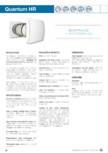 Unitate de ventilatie cu recuperator ceramic cu controler HR CTRL-S aerauliqa - Quantum HR 150