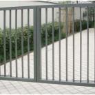 Poarta batanta metalica cu bare rectangulare - Porti de acces metalice