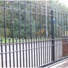 Poarta culisanta metalica fier forjat - Porti de acces metalice