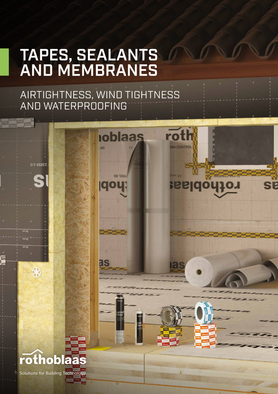 Pagina 1 - Bariere de vapori si control al difuziei pentru acoperis ROTHOBLAAS Catalog, brosura...