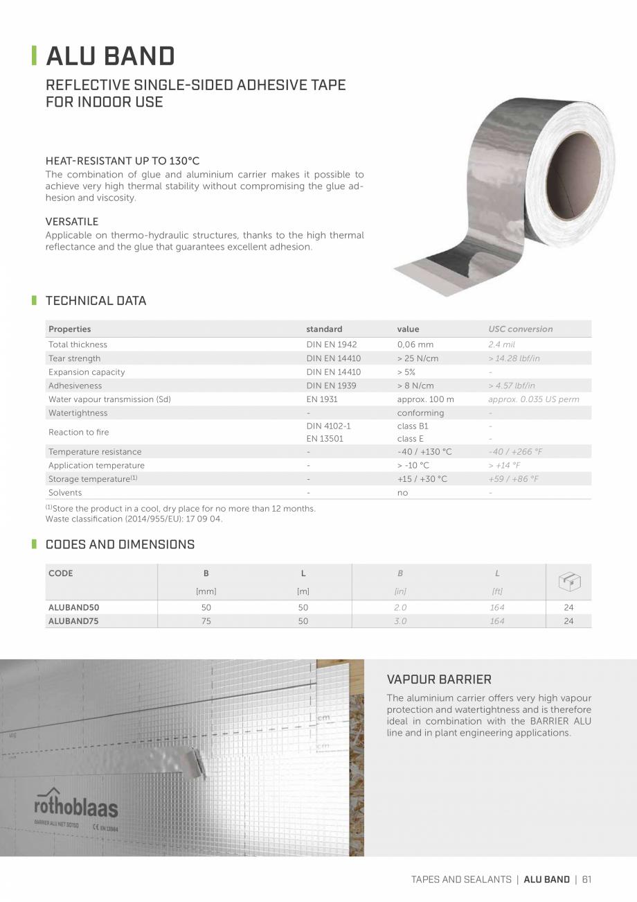 Pagina 60 - Bariere de vapori si control al difuziei pentru acoperis ROTHOBLAAS Catalog, brosura...