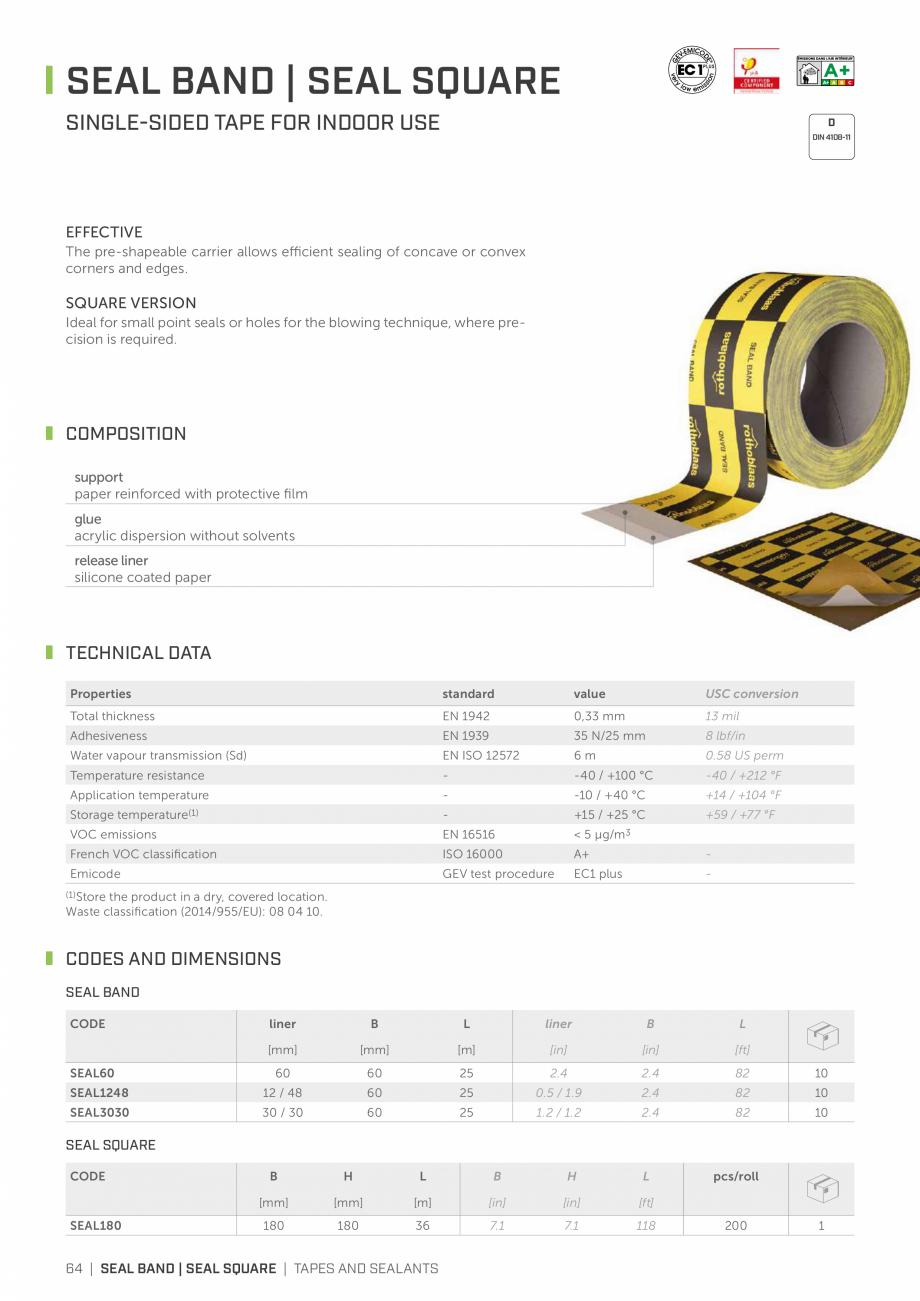 Pagina 63 - Bariere de vapori si control al difuziei pentru acoperis ROTHOBLAAS Catalog, brosura...