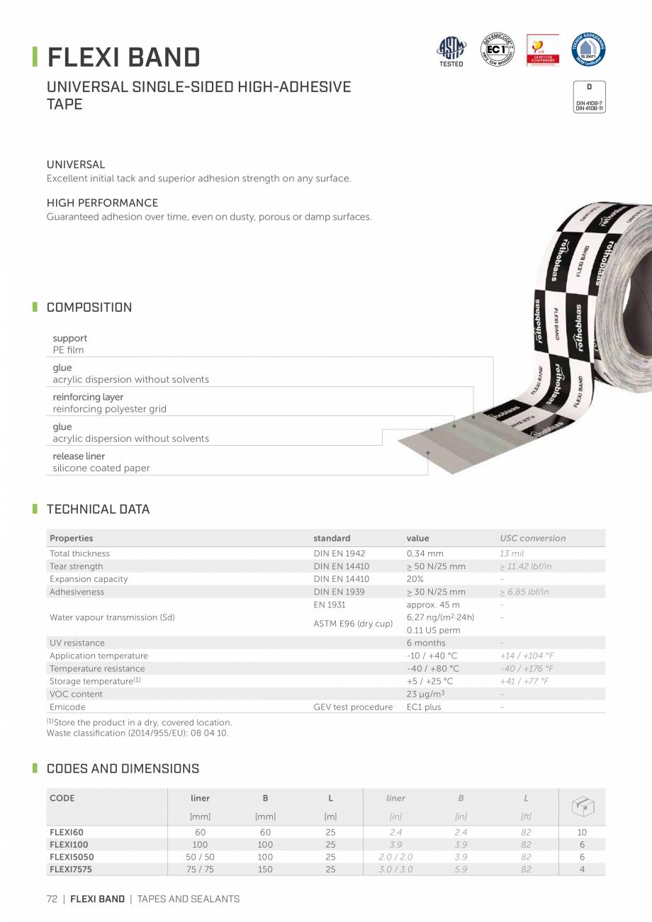 Pagina 71 - Bariere de vapori si control al difuziei pentru acoperis ROTHOBLAAS Catalog, brosura...
