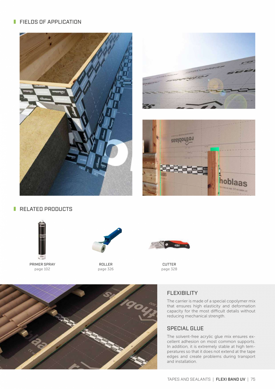 Pagina 74 - Bariere de vapori si control al difuziei pentru acoperis ROTHOBLAAS Catalog, brosura...