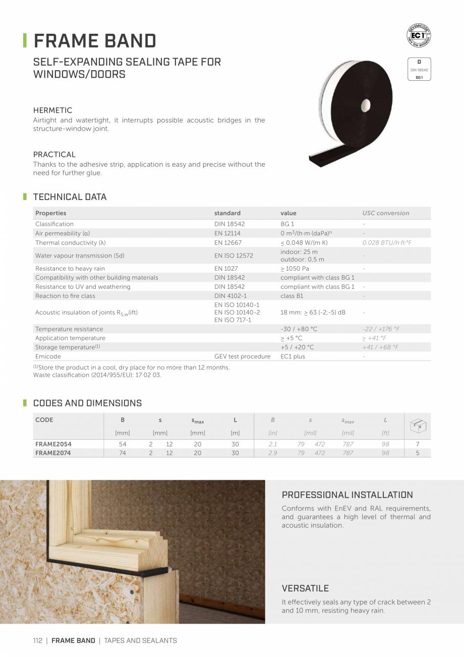 Pagina 111 - Bariere de vapori si control al difuziei pentru acoperis ROTHOBLAAS Catalog, brosura...