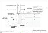 Detaliu de imbinare soclu si perete pe fundatie continua (cu bloc de baza) ENERGOCELL