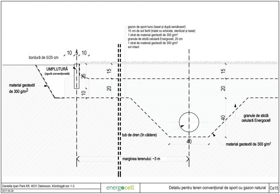 Pagina 1 - CAD-DWG Detaliu pentru teren conventional de sport cu gazon natural ENERGOCELL Proiect...