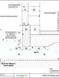 Detaliu de imbinare soclu si perete pe (fundatie pe) radier